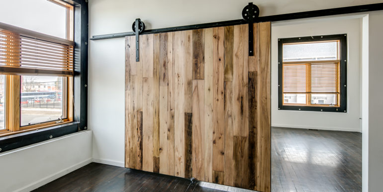 1_Second Level-Bedroom One-Barndoor Detail-1